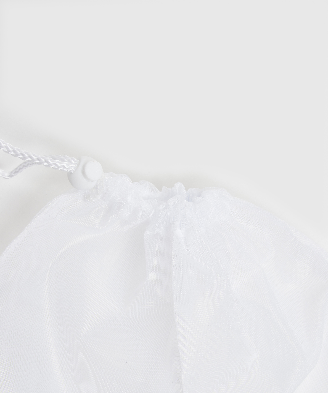 Vaskepose med snurpesnor, Hvit, main