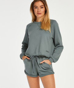 Sweat French shorts, Grønn