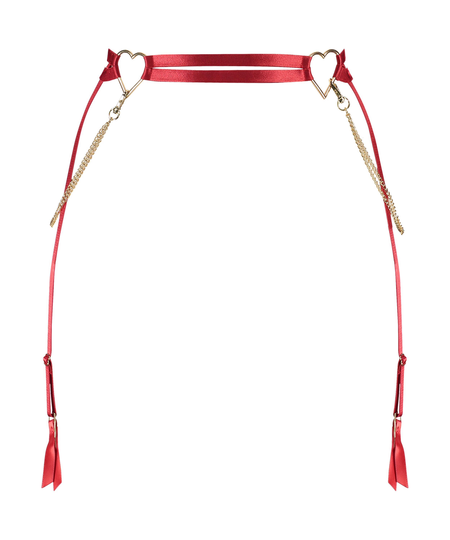 Heart suspender, Rød, main