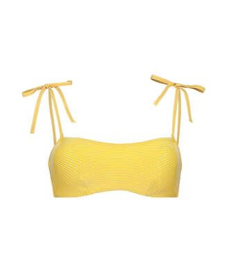 Carmel bandeau-bikinitopp, Gul