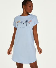 Natt-t-skjorte med rund hals, Blå