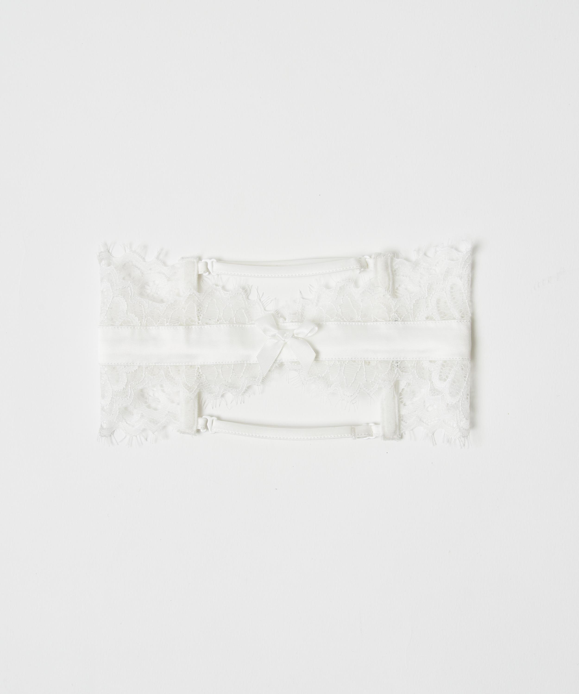Noir strømpebånd, Hvit, main