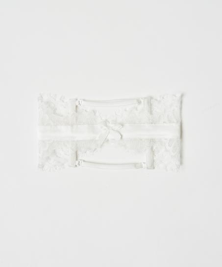 Noir strømpebånd, Hvit