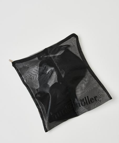 Vaskepose med glidelås, Svart