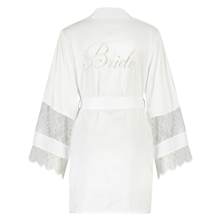 Kimono Bridal i sateng, Hvit