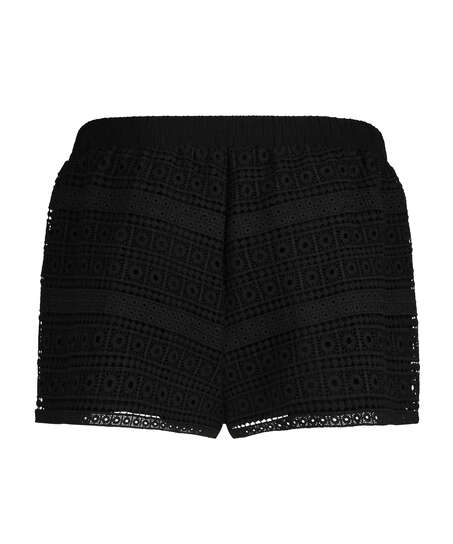 Crochet-shorts, Svart
