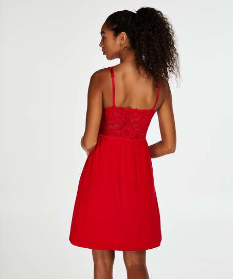 Modal blonde-slipkjole, Rød