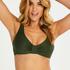 Luxe uvattert bikinitopp, Grønn