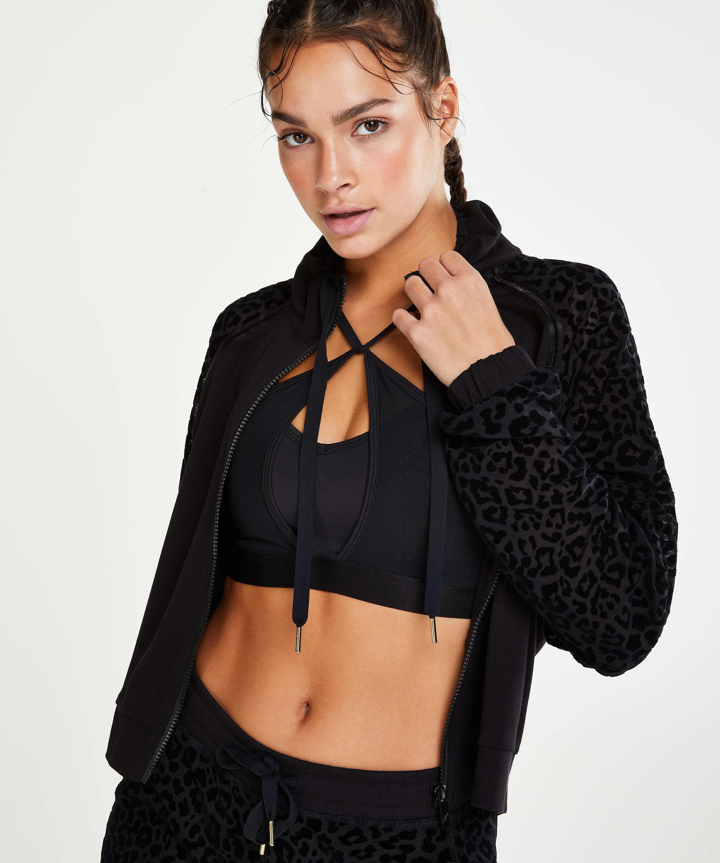 HKMX Leopard jakke , Svart, main