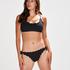 Scallop Goddess frekk bikinitruse, Svart