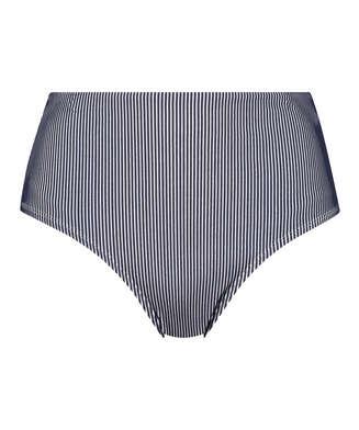 Ruffle høy bikiniunderdel, Blå