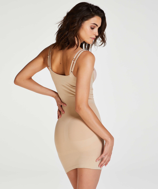 Oppstrammende kjole – 2. nivå, Beige, main