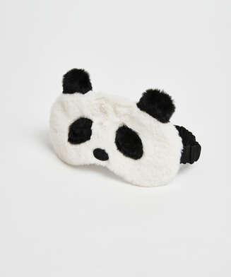 Sovemaske med søtt pandamotiv, Hvit