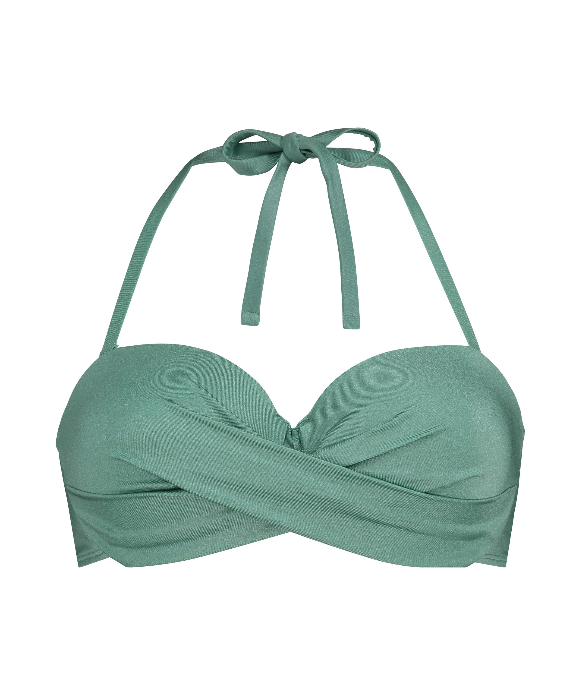 SoCal polstret bikinitopp med bøyler, Grønn, main