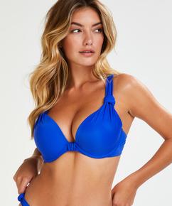 Luxe polstret bikinitopp med spiler, skål E og større, Blå