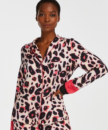 Duckie pysjamasjakke med lange ermer, Rosa