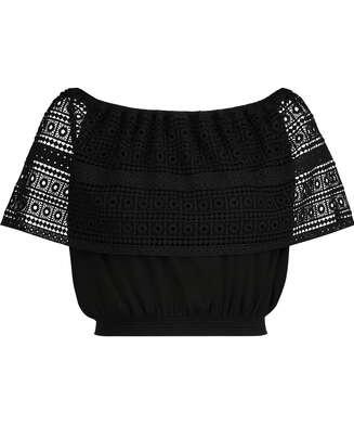 Crochet-topp, Svart