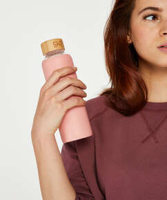 Vannflaske i glass, Rosa