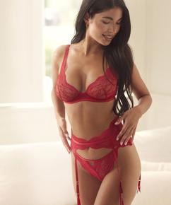 Isabelle strømpeholder, Rød