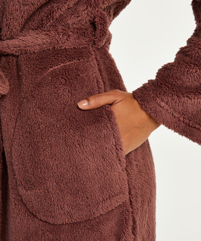 Langfleecet badekåpe, Rosa, main