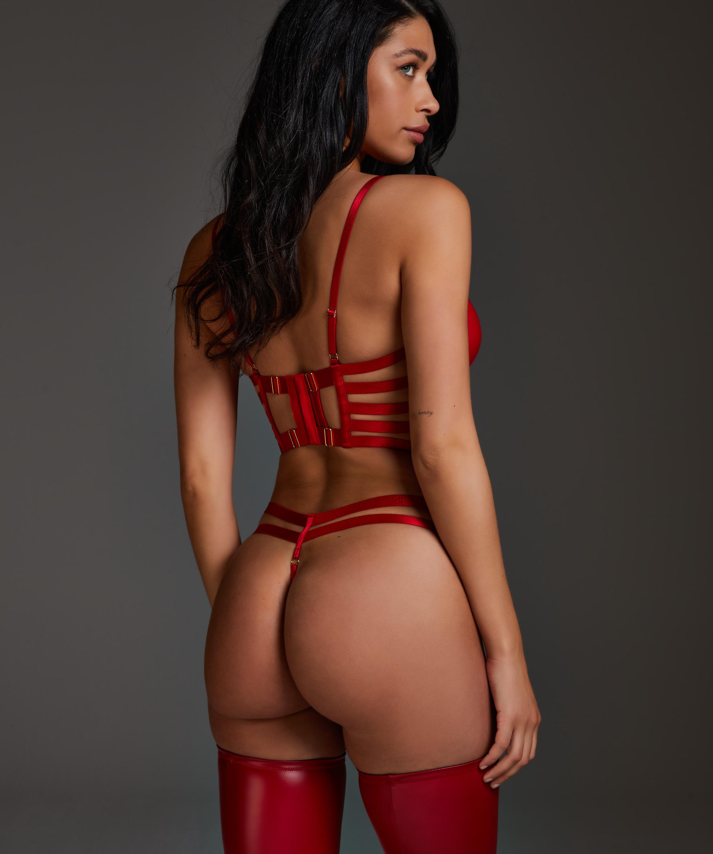 Vicky polstret pushup-BH med spiler, Rød, main