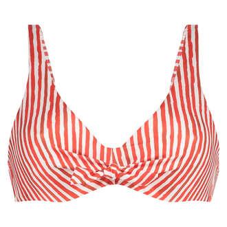 Julia uvattert bikinitopp med spiler, Rød