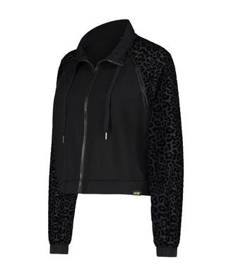 HKMX Leopard jakke, Svart