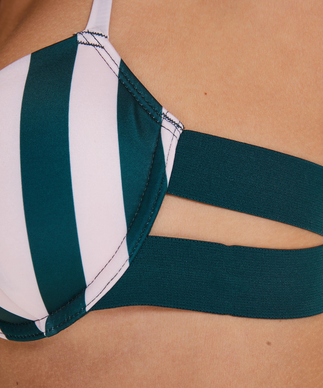 Santa Rosa polstret bikinitopp med spiler, Grønn, main