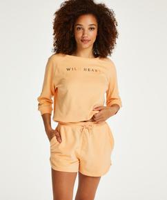 Sweat French shorts, Oransje