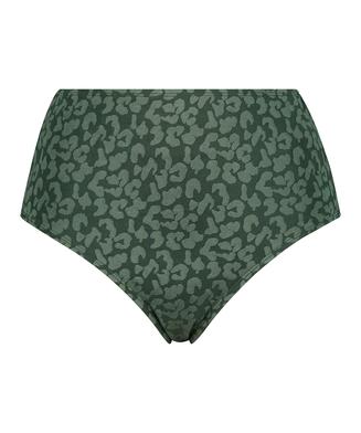 Tonal Leo bikinibukse med høyt snitt, Grønn
