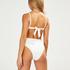Emily polstret bandeau-bikinitopp, Hvit