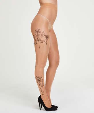 Leg Tattoos panty 15 denier, Beige