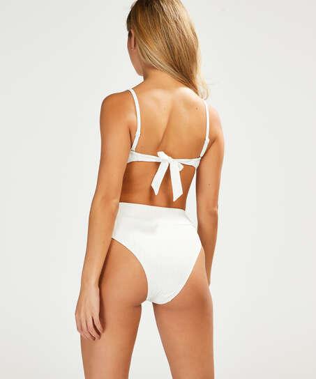 Emily høy bikiniunderdel, Hvit