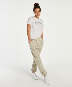 Jersey short-sleeved pysjamastopp, Hvit