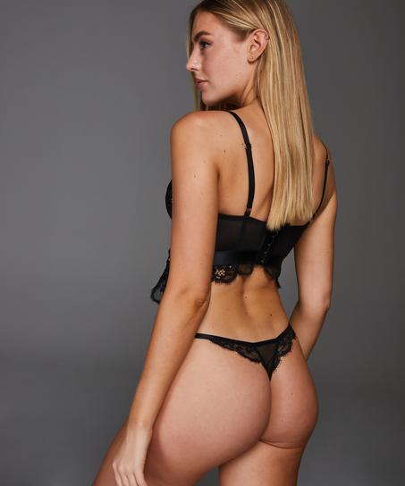 Heather thong, Svart