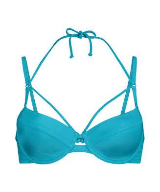 Celine polstret bikinitopp med spiler, Blå
