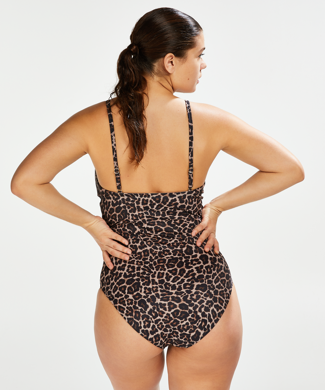 Leopard badedrakt, Beige, main