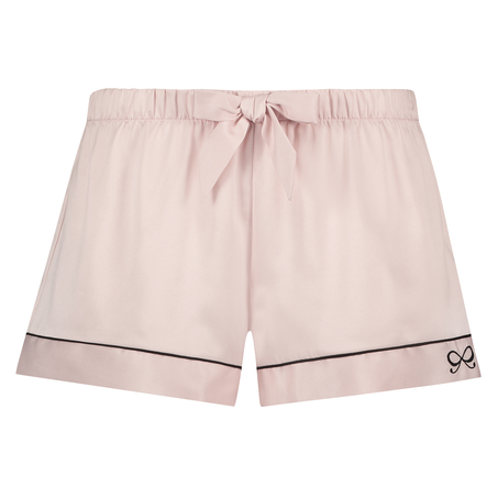 Satin Lace pyjamashhorts, Rosa
