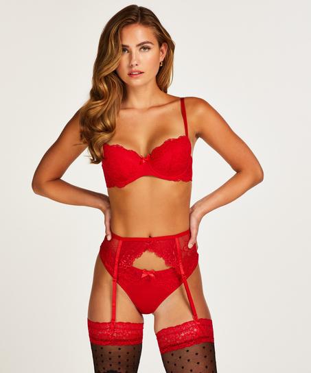 Strømpeholder, Rød