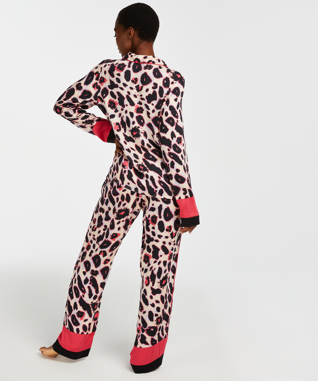 Duckie pysjamasjakke med lange ermer, Rosa, main