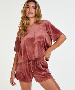 Velours Pocket shorts, Rosa