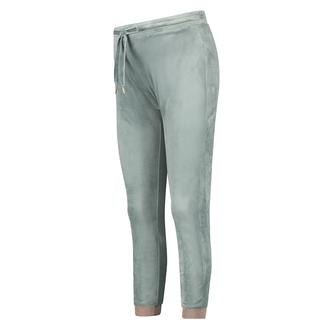 Velours lurex joggebukser, Grønn