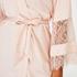 Kimono med satengblonder, Rosa