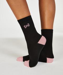 2 par Bow sokker, Svart