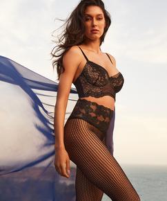 Lacey Fishnet panty Rebecca Mir, Svart