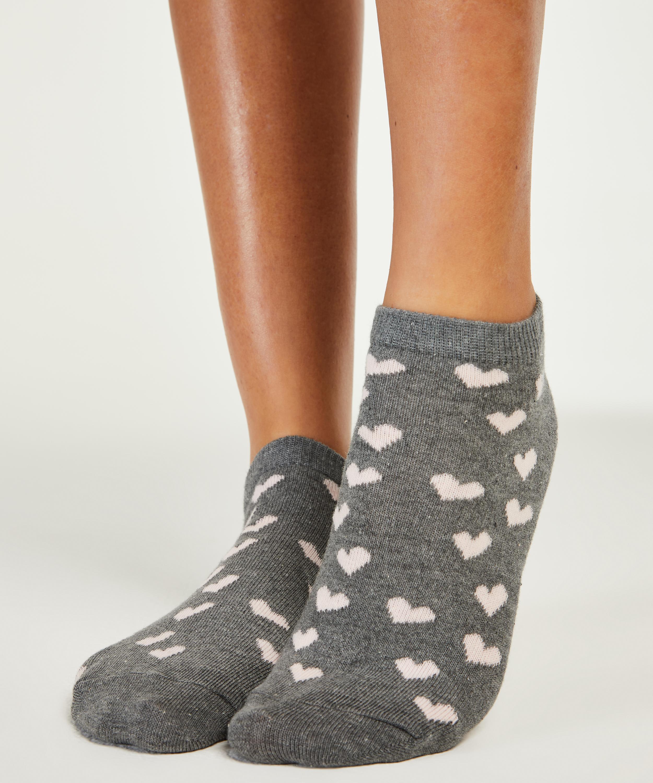 2 Pairs Of Socks, Grå, main