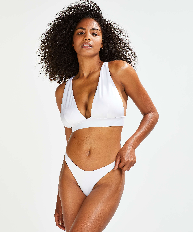 Lola triangle bikinitopp, Hvit, main