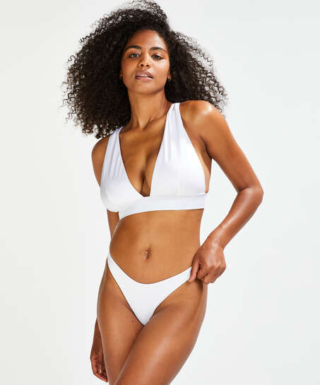 Lola triangle bikinitopp, Hvit