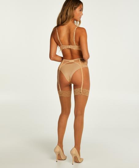 Topakning blondestrømper 15 denier, Beige