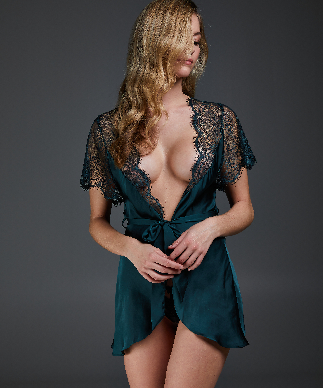 Cap Sleeve kimono, Grønn, main